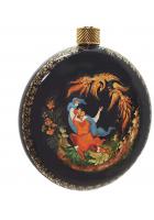 Елочный шар-диск «Жар-птица», Худ.Хомякова, с.Палех.