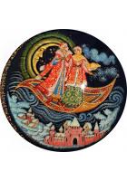 Елочный шар-диск «Ковер-самолет», Худ. Коновалова, с.Палех.