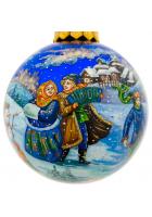 Ёлочный шар «Русская зима», Худ. Жуковская