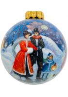 Ёлочный шар «Волшебный вечер на катке», Худ. Печкина