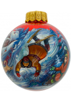 Ёлочный шар «Русские забавы», Худ. Н.Юдина