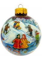 Ёлочный шар «Первый снег», Худ. Ю.Жуковская