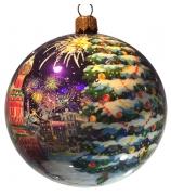 Ёлочный шар «Салют на Красной площади», Худ.Тихомирова