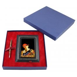 Подарочный набор «Георгий Победоносец»: шариковая ручка и ежедневник