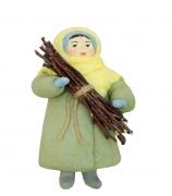 Елочная игрушка «Девочка с хворостом»