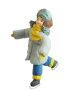 Елочная игрушка «Мальчик на коньках»