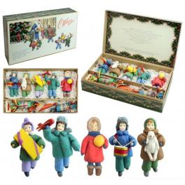 Набор ватных ёлочных игрушек «С Новым годом!»