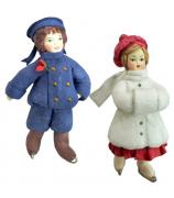 Набор ёлочных игрушек «Дети на катке»