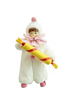 Елочная игрушка «Клоун с конфеткой»
