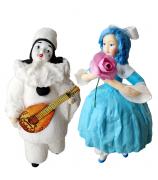 Набор ёлочных игрушек «Мальвина и Пьеро»