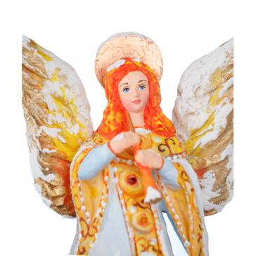 Макушка на ёлку «Ангел», украшение из ваты, ручная работа