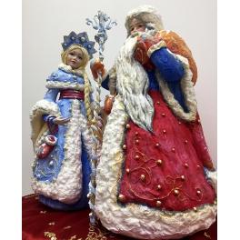 Ватная кукла Деда Мороза под елку