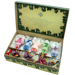 Набор ватных ёлочных игрушек «Зимние забавы»