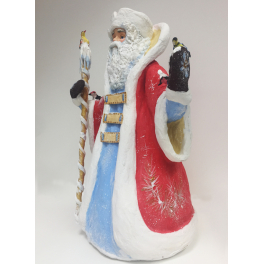 Небольшая ватная кукла Деда Мороза под елку, высота 43 см