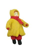Елочная игрушка «Девочка в шарфике»