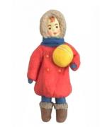 Елочная игрушка «Девочка с мячиком»