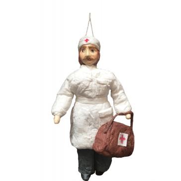 Ватная ёлочная игрушка «Доктор Айболит»
