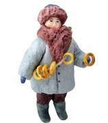 Елочная игрушка «Мальчик с баранками»