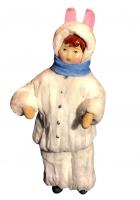 Елочная игрушка «Мальчик зайчик»