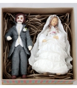 Набор ёлочных игрушек «Жених и невеста»