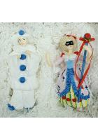 Набор ёлочных игрушек «Пьеро и Коломбина»