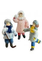 Набор ёлочных игрушек «Весёлая зима»