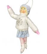 Елочная игрушка «Девочка на коньках»