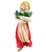 Елочная игрушка «Девочка с букетом»