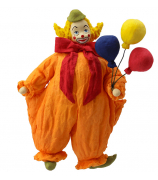 Елочная игрушка «Клоун с шарами»