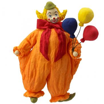 Ватная ёлочная игрушка «Клоун с шарами», 14 см