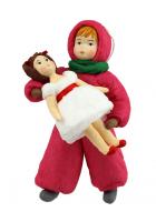 Елочная игрушка «Девочка с куклой»