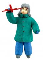 Елочная игрушка «Мальчик с самолетом»