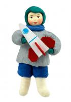 Елочная игрушка «Мальчик с ракетой»
