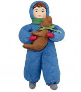 Елочная игрушка «Мальчик с мишкой»