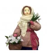 Елочная игрушка «Девушка с подснежниками»