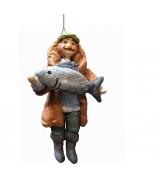 Елочная игрушка «Рыбак»