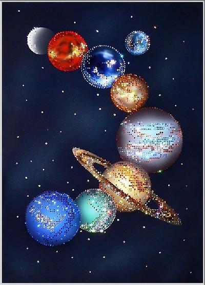 Картина по номерам парад планет купить ткань для шитья дешево